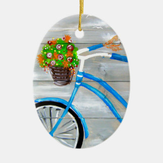 Blue Bike Zazzle Ceramic Ornament