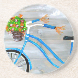 Blue Bike Zazzle Coaster