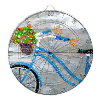 Blue Bike Zazzle Dart Board