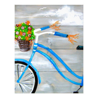 Blue Bike Zazzle Letterhead