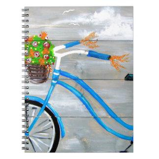 Blue Bike Zazzle Notebook