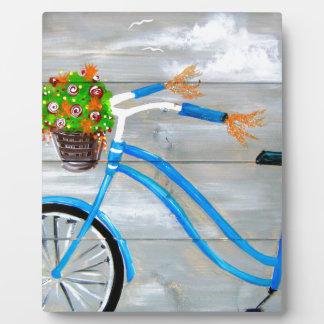 Blue Bike Zazzle Plaque