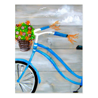 Blue Bike Zazzle Postcard