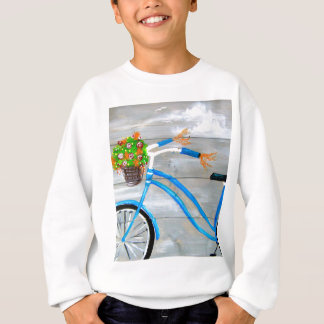 Blue Bike Zazzle Sweatshirt