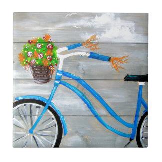 Blue Bike Zazzle Tile