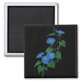 Blue Bindweed Square Magnet