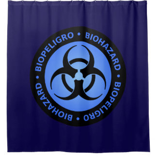 Blue Biohazard Warning Sign