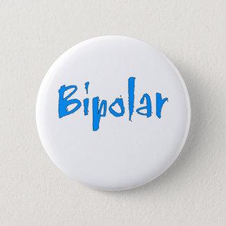 Blue Bipolar 2 Inch Round Button