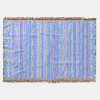 Blue Birch Trees Abstract Design Afghan Throw
