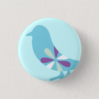 BLUE BIRD 1 INCH ROUND BUTTON
