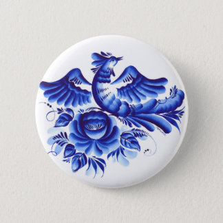 Blue bird 2 inch round button