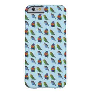 Blue bird budgie parrot pattern iPhone Case
