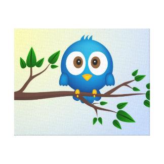 Blue bird canvas stretched canvas prints