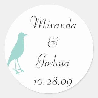 blue bird classic round sticker