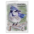 BLUE BIRD CUSTOMIZABLE GREETING CARD