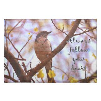 Blue Bird Follow Your Heart Placemats