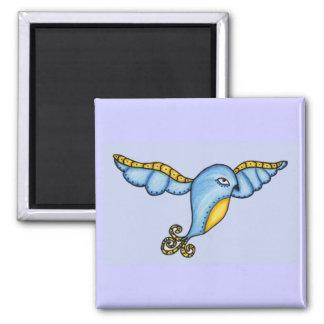 Blue Bird In Flight Magnet
