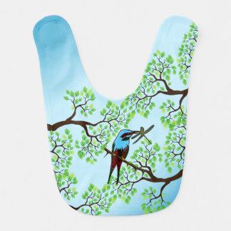 Blue Bird in Trees Bib