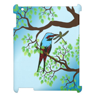 Blue Bird in Trees Cover For The iPad