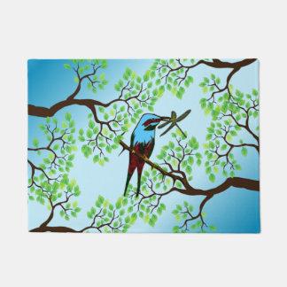 Blue Bird in Trees Doormat