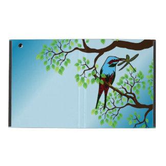 Blue Bird in Trees iPad Folio Case