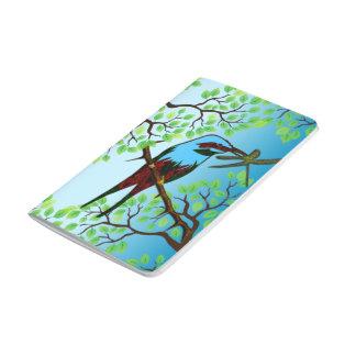Blue Bird in Trees Journal