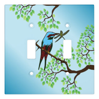Blue Bird in Trees Light Switch Cover