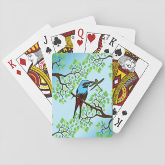 Blue Bird in Trees Playing Cards