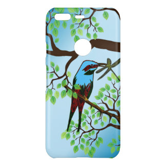 Blue Bird in Trees Uncommon Google Pixel Case