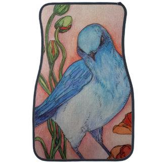 blue bird ladies car mat