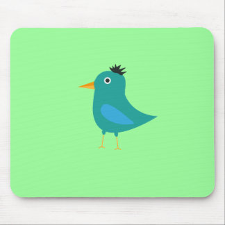 Blue bird mouse pad