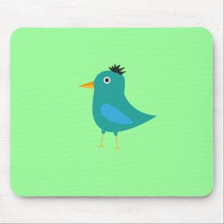 Blue bird mouse pad