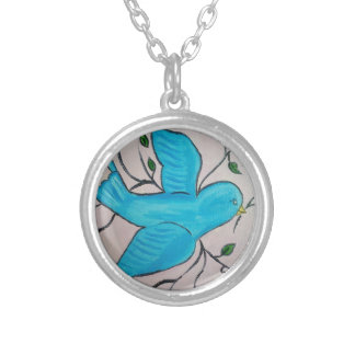 Blue Bird of Happiness Necklace