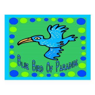 Blue Bird of Paradise 3 Postcard