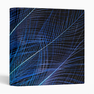 Blue Bird Of Paradise Feather Abstract 3 Ring Binders