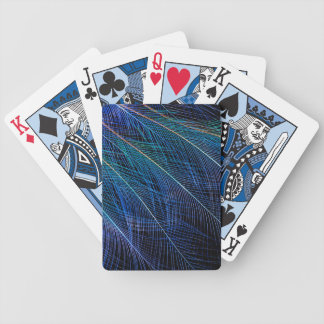 Blue Bird Of Paradise Feather Abstract Bicycle Playing Cards