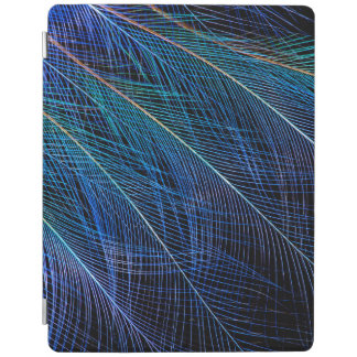 Blue Bird Of Paradise Feather Abstract iPad Cover