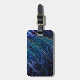 Blue Bird Of Paradise Feather Abstract Luggage Tag