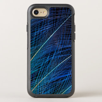 Blue Bird Of Paradise Feather Abstract OtterBox Symmetry iPhone 8/7 Case