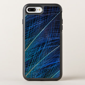 Blue Bird Of Paradise Feather Abstract OtterBox Symmetry iPhone 8 Plus/7 Plus Case