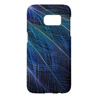 Blue Bird Of Paradise Feather Abstract Samsung Galaxy S7 Case