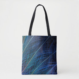Blue Bird Of Paradise Feather Abstract Tote Bag