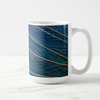 Blue Bird of Paradise feathers Coffee Mug