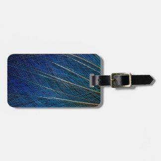 Blue Bird of Paradise feathers Luggage Tag
