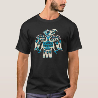 blue bird on black background T-Shirt