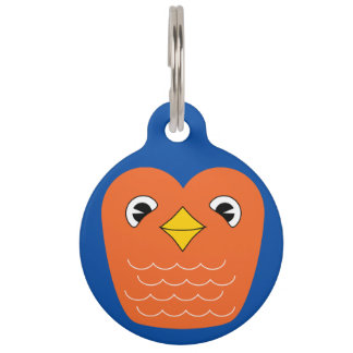 Blue bird pet ID tag