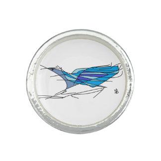 blue bird photo ring