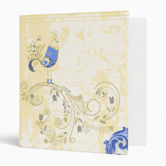 Blue Bird Retro Floral Fine Art Binders