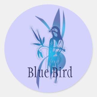 Blue Bird Round Sticker