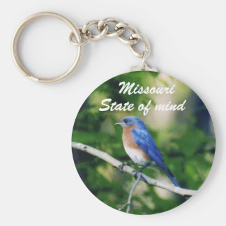 Blue bird single, Missouri, State of mind Key Chan Keychain